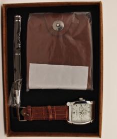 Набор подарочный (часы. ручка кошел.) 010#
