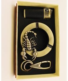 Набор подарочный 006# (брело, зажигалка, пепельница)