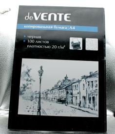 """Копировальная бумага А-4  100 лист. """"deVente"""""""