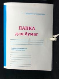 Папка  картон  с завязками 100шт/уп. ЕЙСКОЕ