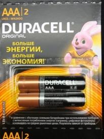 """Батарейки  """"Duracell""""  щелочные LR-3- 1.5V (6*2) AAA"""