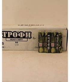 """Батарейки  """"Трофи"""" R-6; 1.5V. солев."""
