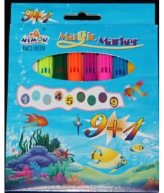 Фломастеры  9+1  Magic- Marker HO-809 AM-623