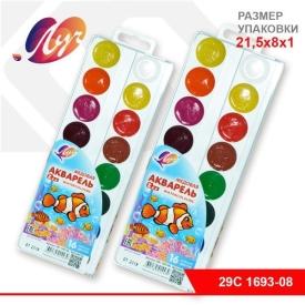 "Акварель ""ZOO"" 16цв.б/к, пласт. упак.(европодвес)"