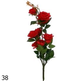 Цветы иск. РОЗЫ -5цветк. 90см АМ-206-2
