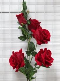 Цветы иск. РОЗЫ-5цветк .105см АМ-206-1