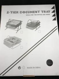 Подставка для бумаг металлическая 2 ярус. АМ-31-26