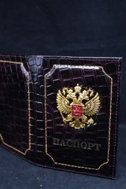 """Обложка для паспорта  """"МЕТАЛ. Герб"""" М"""
