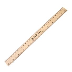 Линейка деревянная 30см AL-3695-30