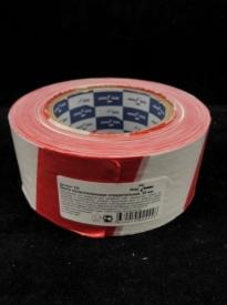 Лента для ограждений полиэтиленовая оградительная 50мм*200м бело-красная