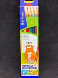 Карандаши  цветные 6цв Berlingo