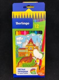 Карандаши  цветные 12цв Berlingo