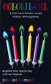 """Свечи для торта  """"Цветной огонь"""" АМ-3-4"""
