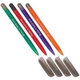 Набор шариковых ручек (трехгранный  цветной корпус  4 цвета)