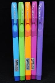 Ручка для правши на маслянной основе с резиновым упором (цвет чернил синий, корпус ассорти)
