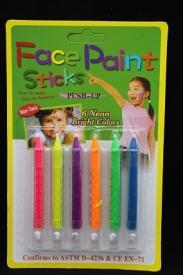 """Грим для лица 6цв. """"Неоновые карандаши"""" D-4236/АМ-36-4"""