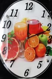 Картинка с часами (29*39см овальная)   24-1