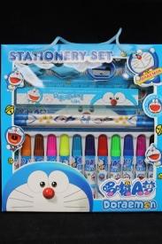 """Набор подарочный """"Кот Doraemon фломастеры+2карандаша+точилка+3ластика+линейка+раскрска"""""""