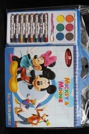 """Набор подарочный """"3D раскраска+краски+карандаши+кисть"""""""