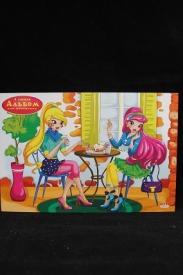 Альбом для рисования А5 8л. ПОДРУЖКИ В КАФЕ (08-5730) скрепка,целл.картон,офсет