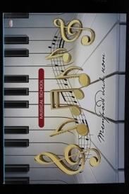 Тетрадь для нот А4 16л. НОТЫ НА ПИАНИНО (16-7610) (скрепка, цветная мелов.обл.), альбомная
