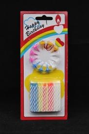 Свечи для торта  в ассортим. 24 шт.