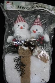 "Игрушка пенопластовая ""Снеговики на подарке"""
