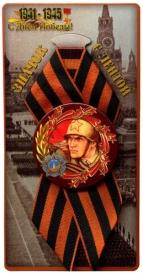 Петелька со значком Солдат (Орден Победы СССР) (мет.) с вкладышем ЗН-8206
