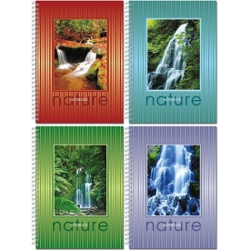 """22с28 Тетрадь 96л., """"Nature"""", Ф145х203, печатный блок, тв.переплет, ламинир.покрытие, жесткая обложк"""