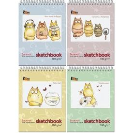 "23с7   Блокнот для зарисовок 60л., А5, греб. блок 100 гр. жест. подл. "" Sketchbook"""
