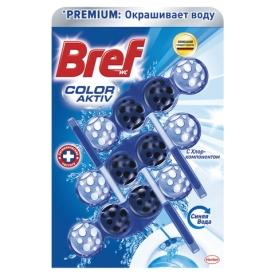 """Освежитель WC (для туалета) твердый 3х50 г BREF (Бреф) Active, """"С хлор-компонентом"""", 2393778"""