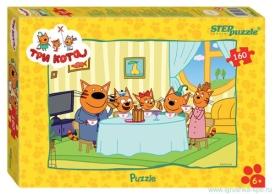 "Пазлы  ""Step- puzzle"" 160 дет.""Три кота ""(АО"" СТС"")"