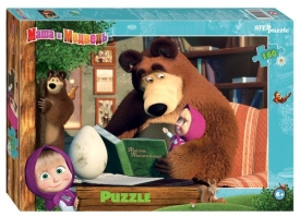 "Пазлы  ""Step- puzzle"" 160 дет.""Маша и Медвед -2"" Анимаккорд"""