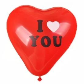 """Шарики надувные сердце """"I LOVE YOU"""" Balloons 2019-582"""