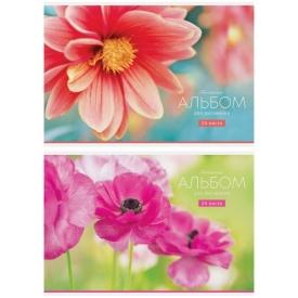 """Альбом для рисования 24л., А4, на скрепке ArtSpace """"Цветы. Tenderness """""""