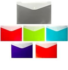 Папка-конверт на кнопке Sahahd,А4,240*330,160мм,кар для ручки,допол,внешний карм,ассорти,мат,Diamond